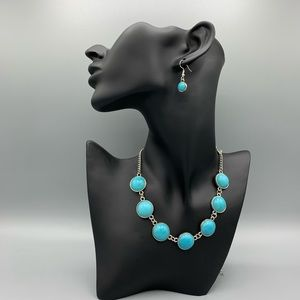 "Turquoise ""Adobe Attitude"" Necklace Earrings Set"